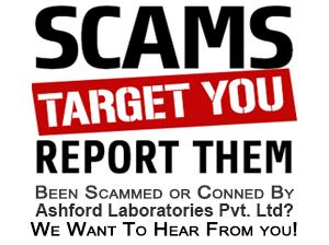 Report us about scam activity of Ashford Laboratories Pvt. Ltd.
